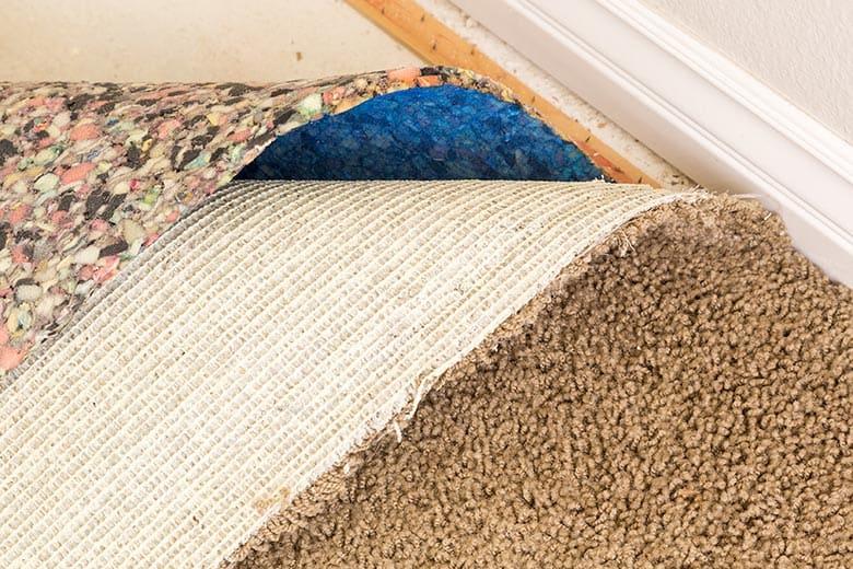 Pull carpet back