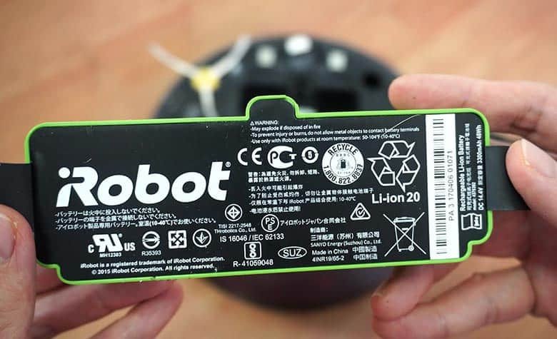 Remove Roomba 980 battery