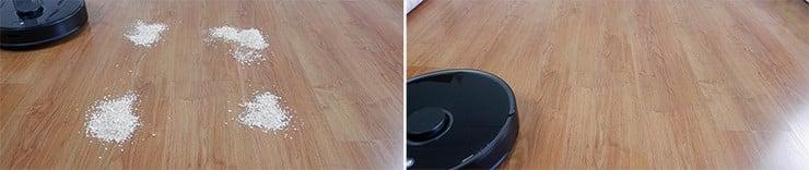 Roborock S5 Max cleaning Quaker oats on hard floors