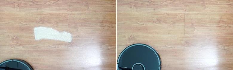 Roborock S5 Max sand on hard floor
