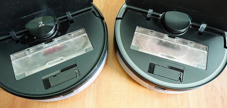 Roborock S5 Max vs S6 MaxV dust cup