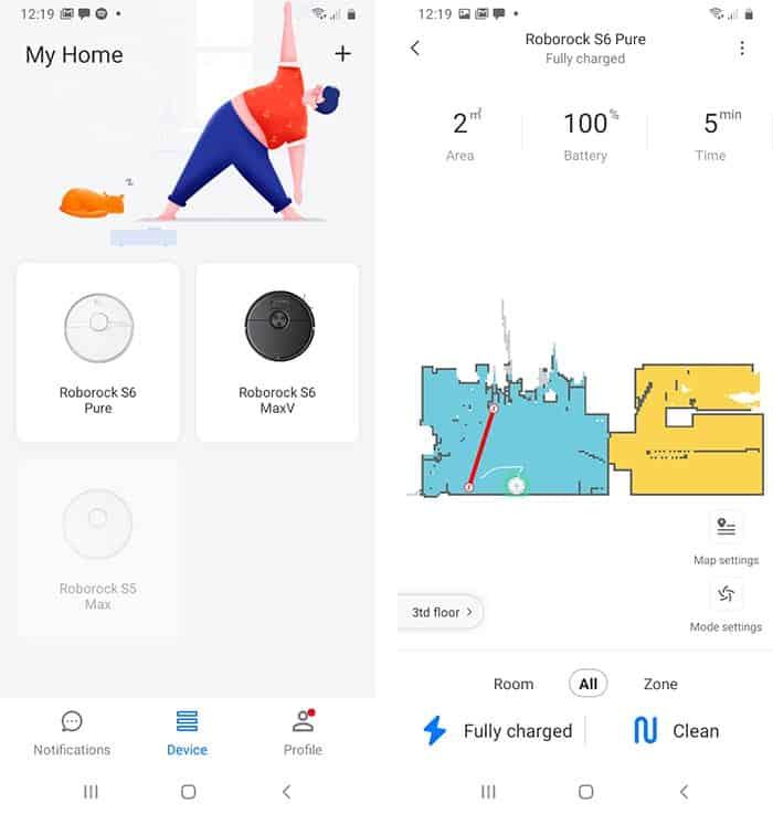Roborock S6 Pure App