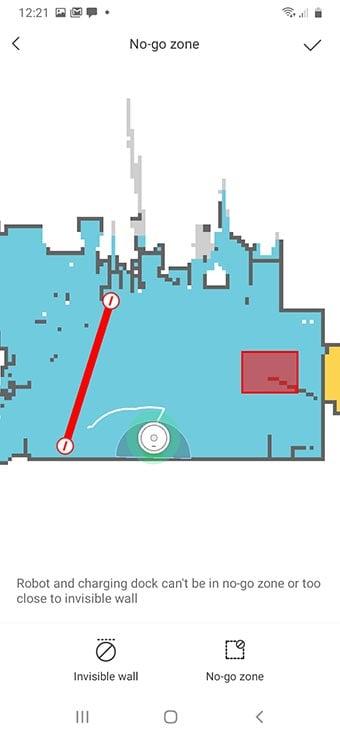 Roborock s6 Pure invisible wall and no-go zones