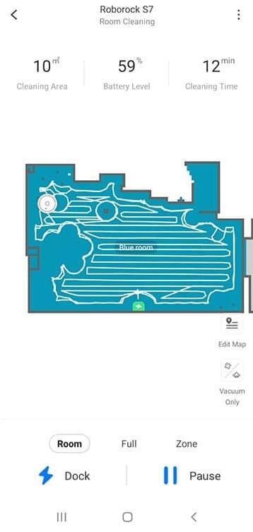 Roborock S7 live map