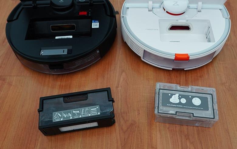 Roborock S7 vs Ecovacs N8 Pro dustbin out