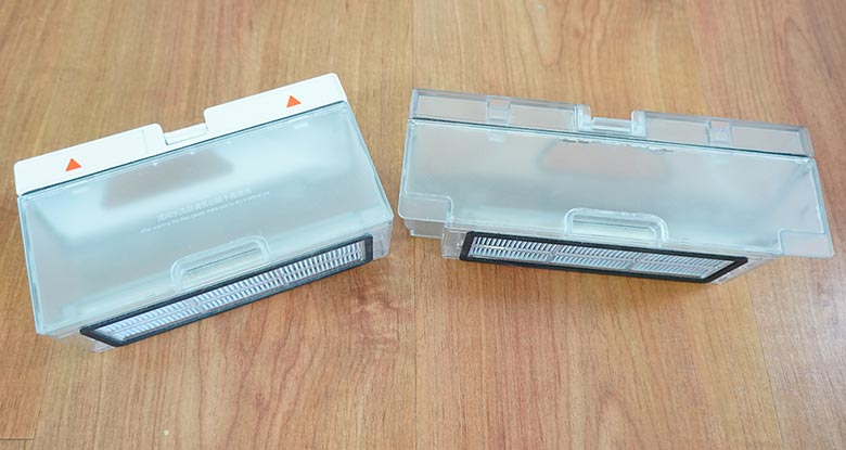 Comparison the Roborock S5 and S6 MaxV dustbin