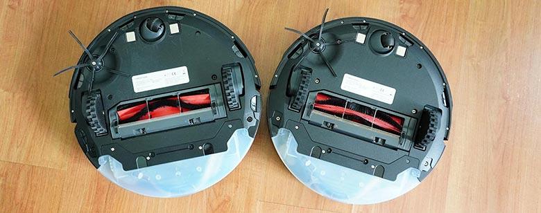 Roborock S5 Max vs S6 MaxV side brush design comparison