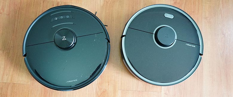 Roborock S5 Max vs S6 MaxV Top View