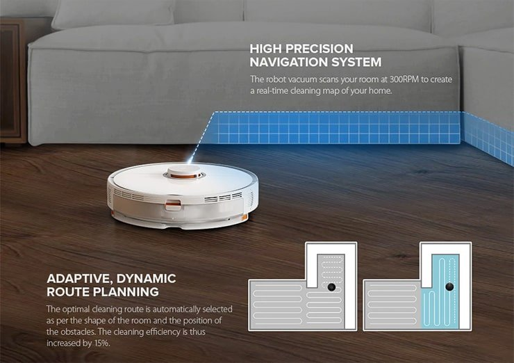 Roborock S5 Max Adaptive, Dynamic Route Planning
