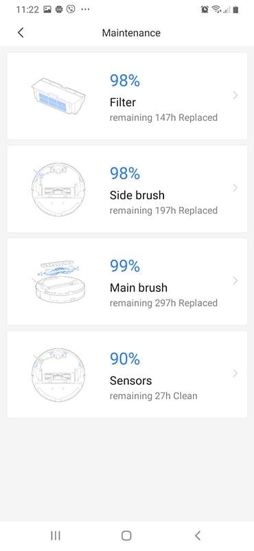 Roborock S5 Max App Status