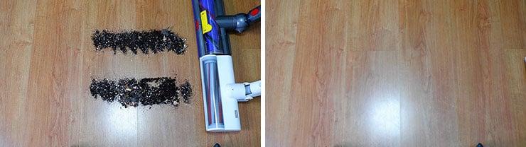 Roidmi F8 vs Dyson V10 Hard Floor Cleaning Test