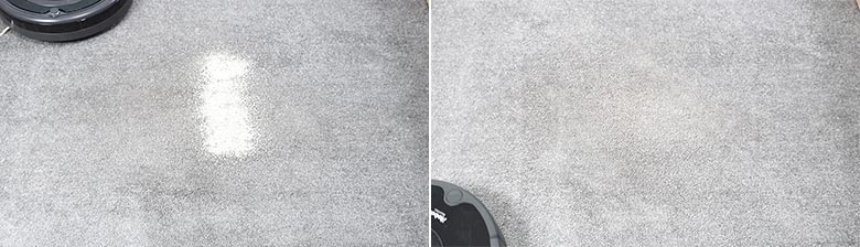 Roomba 675 cleaning pet litter on low pile carpet