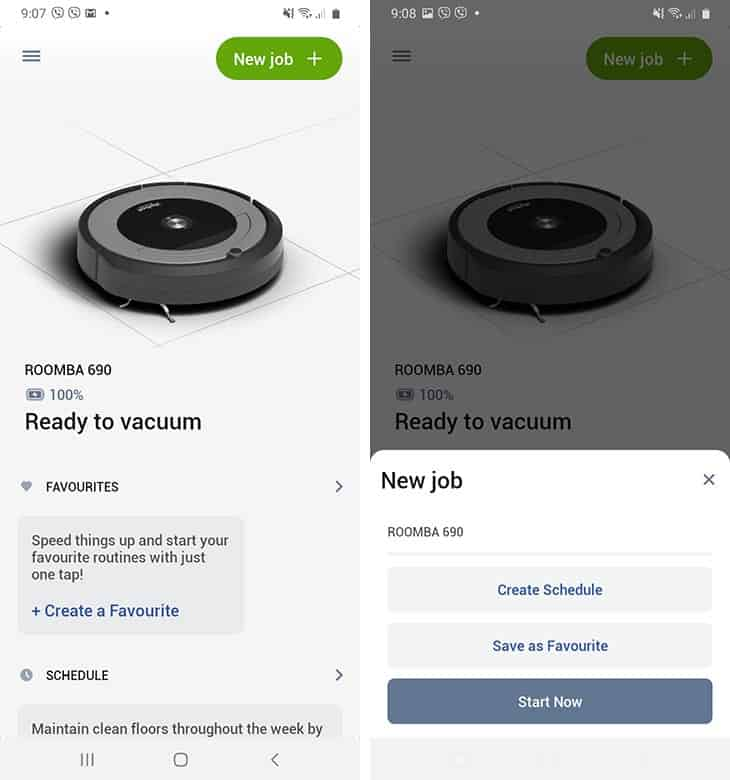 Roomba 690 app screenshots