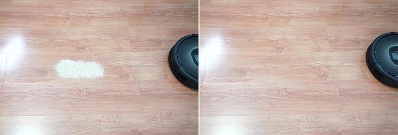 Roomba 980 sand on hard floor test