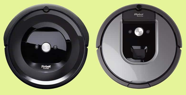 Top view of Roomba E5 and 960