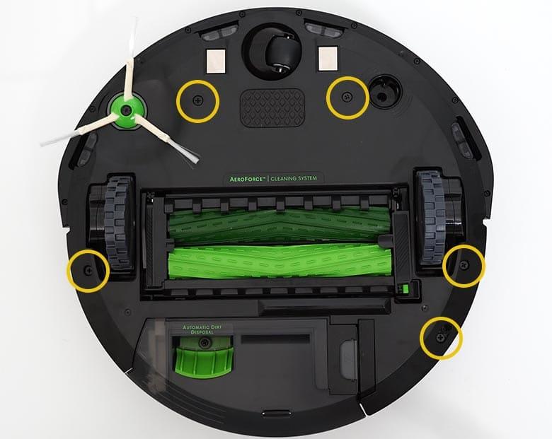 Roomba I3 bolt location