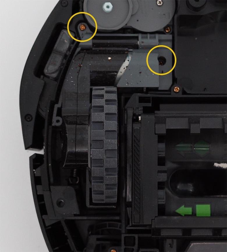 Roomba I3 side wheel bolts