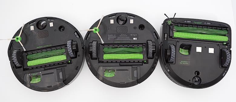 Roomba I3 vs I6 vs S9 brush and shape