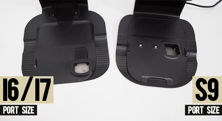 Roomba I6 vs S9 port size