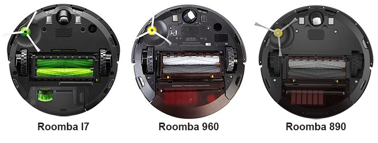 Roomba-I7, 960, and 890 Comparison