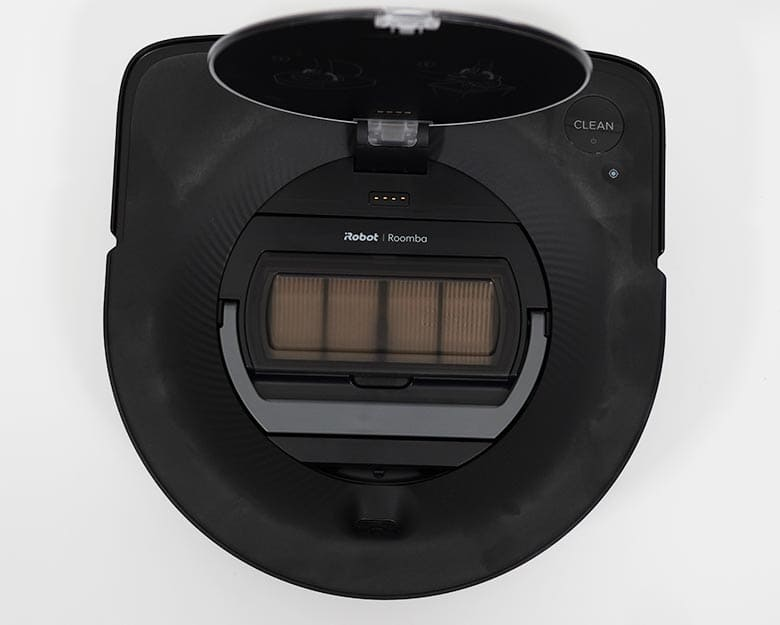 Roomba S9 dustbin top view