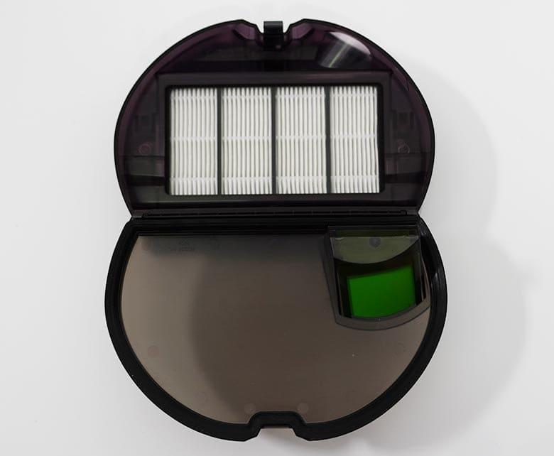Roomba S9 dustbin open