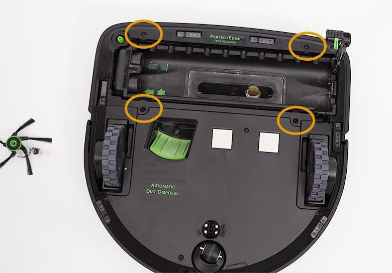 Roomba S9 extractor assembly bolt location