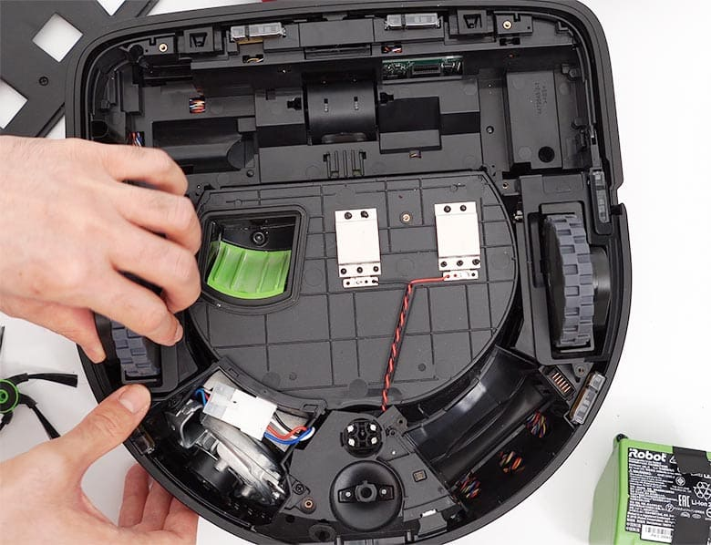 Roomba S9 reattach side wheels