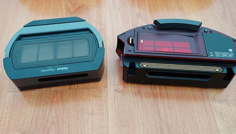 Roomba S9 vs 980 dustbin