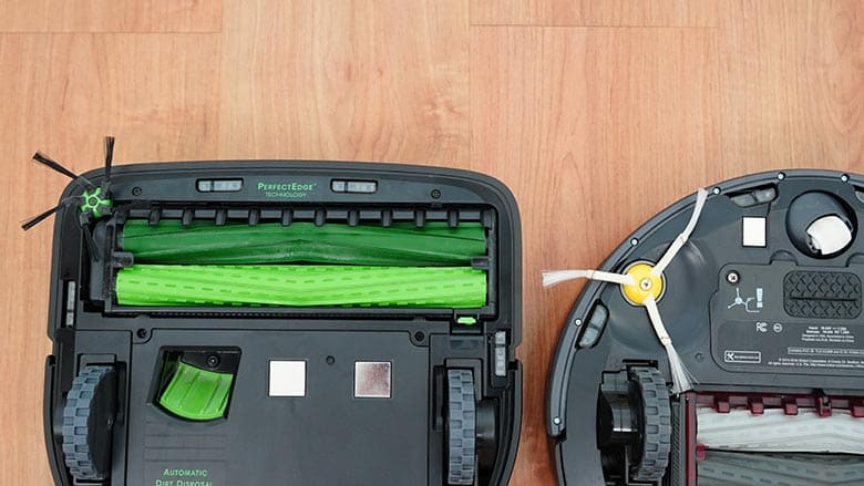 Roomba S9 vs 980 side brush comparison