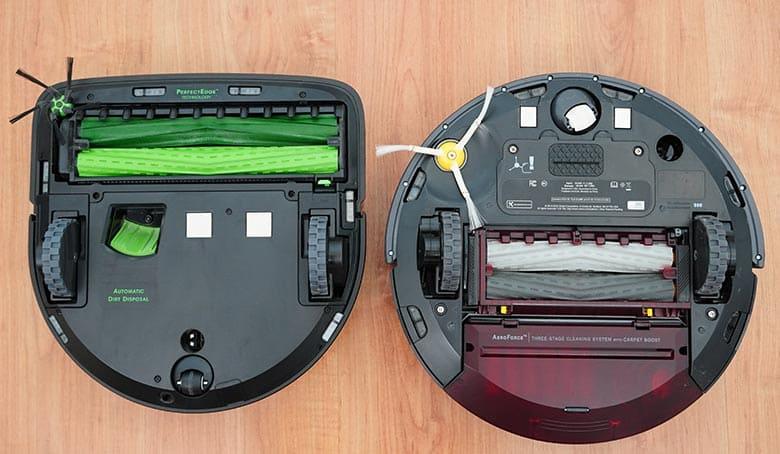 Roomba S9 vs 980 underneath