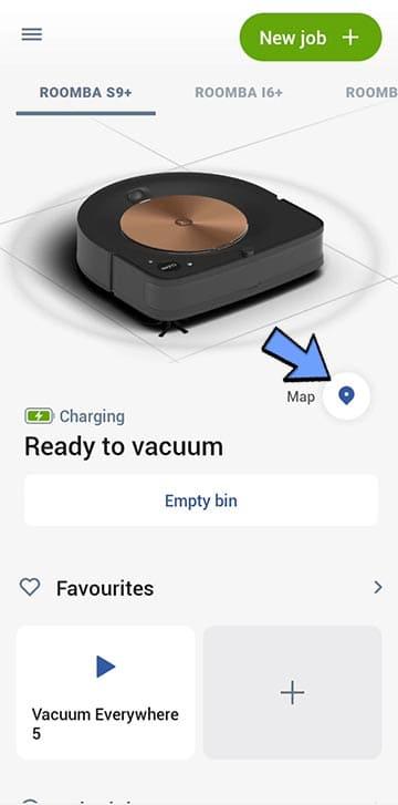 Roomba app map pin