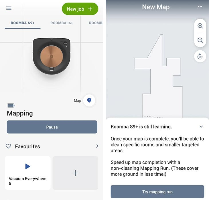 Roomba mapping run