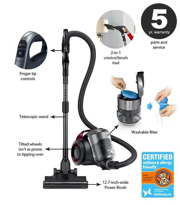 Samsung Motionsync Canister Vacuum Review