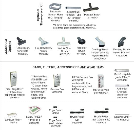 Optional Accessories and Tools