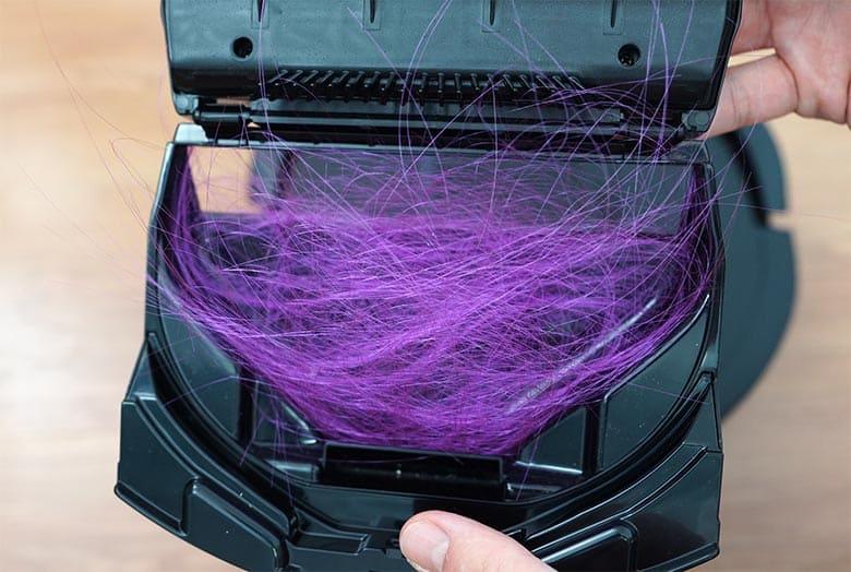 Shark IQ five-inch hair inside dustbin