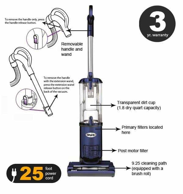 Shark Navigator Lightweight Upright Vacuum Nv105 Review