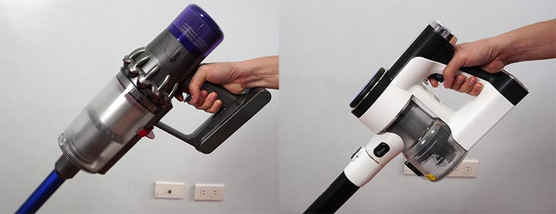 Tineco S12 and Dyson V11 trigger