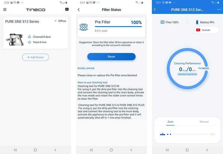 Tineco Pure One S12 App
