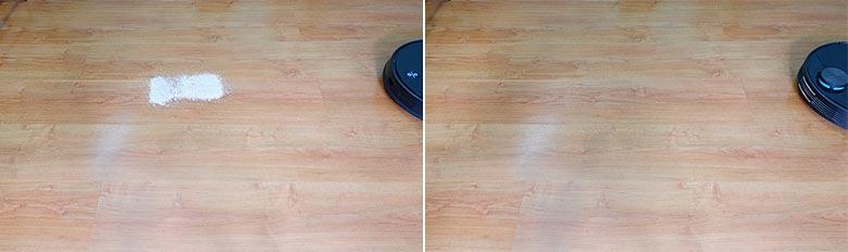 Viomi V3 cleaning pet litter on hard floors