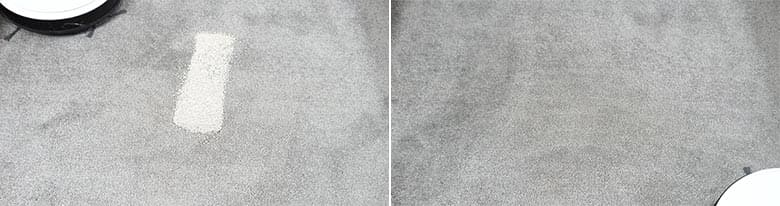 Yeedi K650 cleaning pet litter on low pile carpet