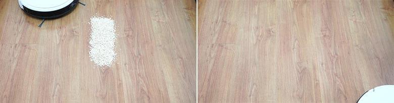 Yeedi K650 cleaning quaker oats on hard floor