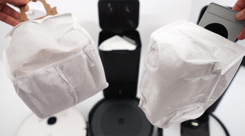 Yeedi vs Roomba bag comparison